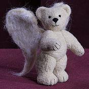Куклы и игрушки ручной работы. Ярмарка Мастеров - ручная работа Мишка-ангел. Handmade.