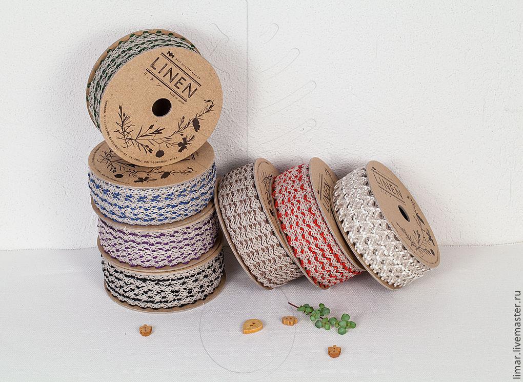 Шитье ручной работы. Ярмарка Мастеров - ручная работа. Купить Льняной вьюнок 10 мм, 7 цветов. Handmade. Лен