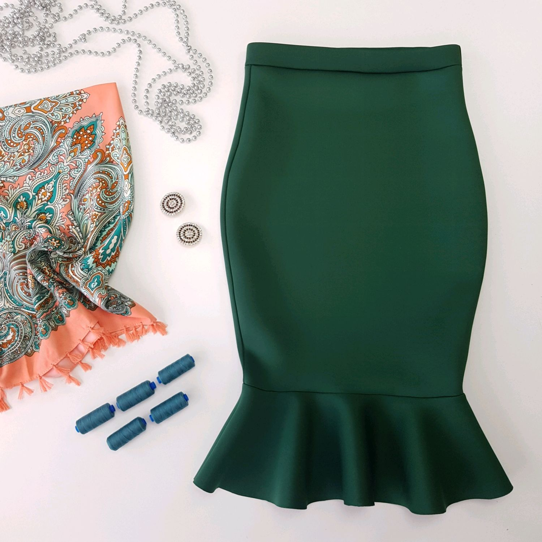 Схема волана детской юбки