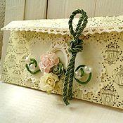 Открытки ручной работы. Ярмарка Мастеров - ручная работа Свадебный конверт для денег. Handmade.