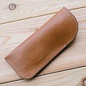 Аксессуары handmade. Livemaster - original item Leather spectacle case, spectacle case, case for sunglasses. Handmade.