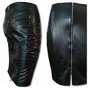 Одежда handmade. Livemaster - original item Pencil leather skirt with two zippers. Handmade.