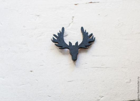 Броши ручной работы. Ярмарка Мастеров - ручная работа. Купить Лоси (портрет) Лес (брошь). Handmade. Серый, подарок, дерево
