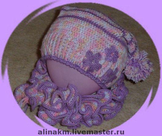 Стоимость данного комплекта (шапочка+шарф) 1000 рублей.