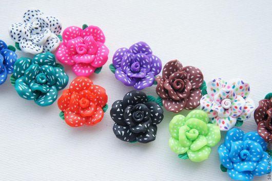 Для украшений ручной работы. Ярмарка Мастеров - ручная работа. Купить Цветы из полимерной глины 25 мм. Handmade.