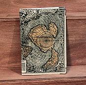 """Канцелярские товары ручной работы. Ярмарка Мастеров - ручная работа обложка """"Карта"""". Handmade."""