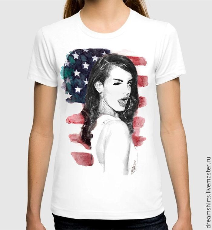 "Футболка хлопковая ""Lana Del Rey"", T-shirts, Moscow,  Фото №1"
