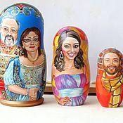Подарки к праздникам handmade. Livemaster - original item Family portraits matryoshka dolls, custom russian dolls by photo. Handmade.