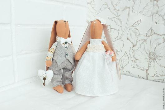 Подарки на свадьбу ручной работы. Ярмарка Мастеров - ручная работа. Купить Зайцы. Свадебные зайцы.. Handmade. Свадебные зайцы, влюбленные