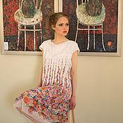 Одежда ручной работы. Ярмарка Мастеров - ручная работа Цветочное поле. Handmade.