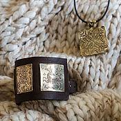 Украшения ручной работы. Ярмарка Мастеров - ручная работа Кулон Норвежская вышивка. Handmade.