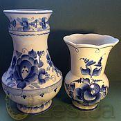 Винтаж handmade. Livemaster - original item Gzhel Vases. Handmade.