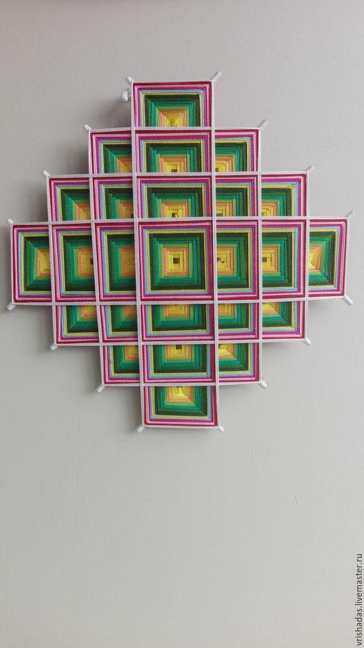 """Обереги, талисманы, амулеты ручной работы. Ярмарка Мастеров - ручная работа. Купить Тибетская мандала """"Загадочная"""". Handmade. Зеленый, уют"""