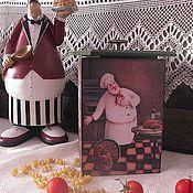 """Для дома и интерьера ручной работы. Ярмарка Мастеров - ручная работа Большой короб для кухни из натурального дерева """"Chef de Cuisine"""". Handmade."""