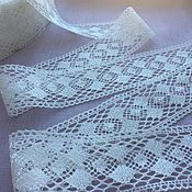 Материалы для творчества handmade. Livemaster - original item Linen lace-prosa