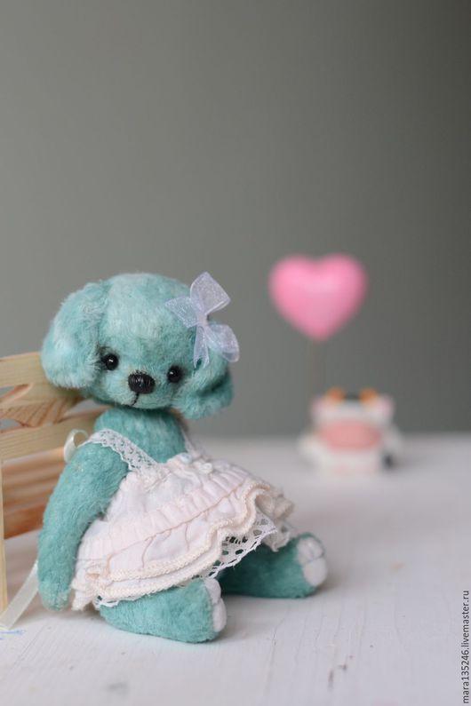 Мишки Тедди ручной работы. Ярмарка Мастеров - ручная работа. Купить Кати. Handmade. Тёмно-бирюзовый, тедди медведи