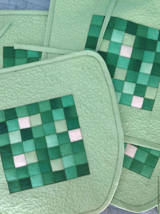 Текстиль, ковры ручной работы. Ярмарка Мастеров - ручная работа. Купить Чехлы на стулья. Handmade. Салатовый, кухня, хлопок американский