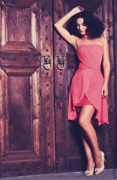 """Платья ручной работы. Ярмарка Мастеров - ручная работа. Купить Платье """"Karmen"""". Handmade. Коралловый, платье летнее, платье"""