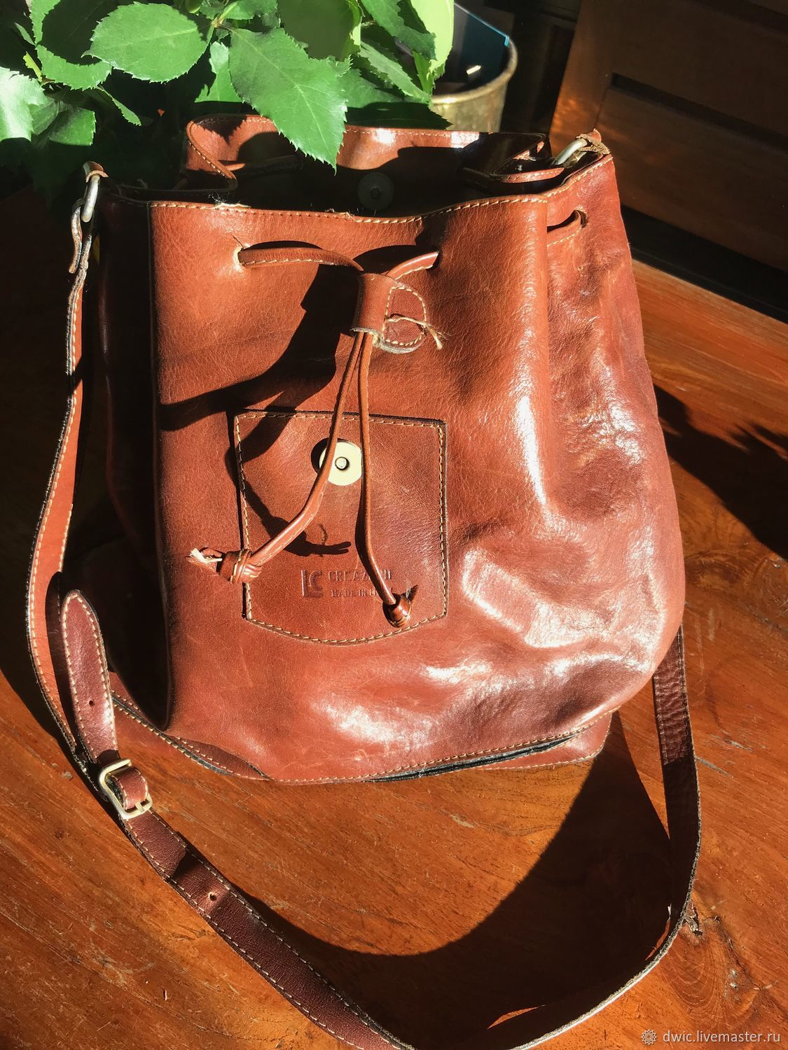 2f6bdd395 Vintage leather bag, Italy – shop online on Livemaster with shipping ...