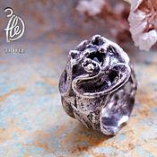 """Украшения ручной работы. Ярмарка Мастеров - ручная работа кольцо со шпинелью """"Black magnolia"""" silver. Handmade."""