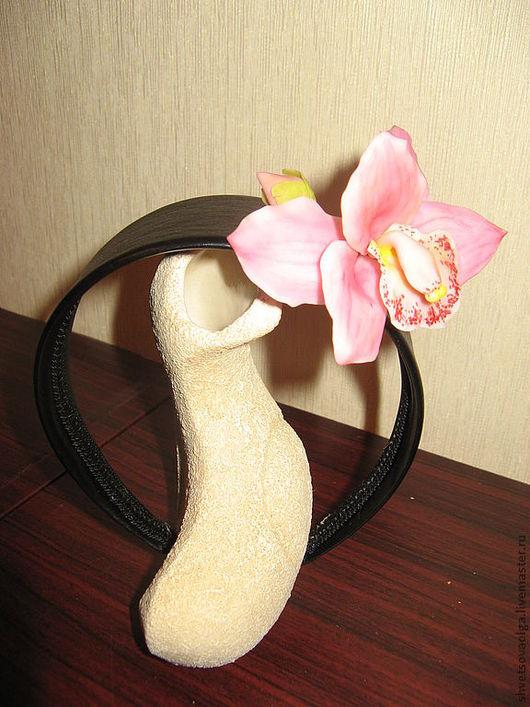 Диадемы, обручи ручной работы. Ярмарка Мастеров - ручная работа. Купить ободок для волос с орхидеей. Handmade. Украшения ручной работы