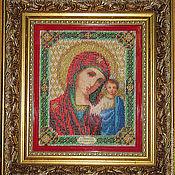 Картины и панно handmade. Livemaster - original item the icon embroidered with beads. Handmade.