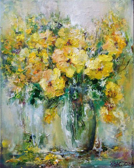 `Солнечный денёк` - картина маслом, цветы