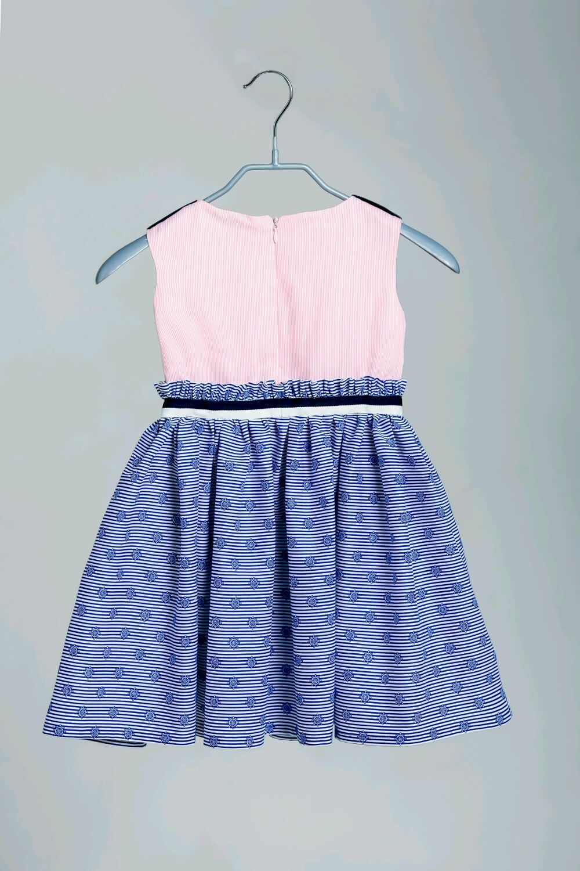 Платье в морском стиле из итальянского хлопка,рост 104