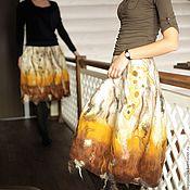 Одежда ручной работы. Ярмарка Мастеров - ручная работа Валяные парные юбки Фэмили лук Сестры. Handmade.
