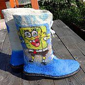 Обувь ручной работы handmade. Livemaster - original item Felted high boots