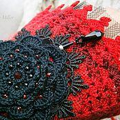 Украшения handmade. Livemaster - original item Bracelet cuff Gothic style black flower and hanger. Handmade.