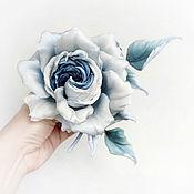 Украшения handmade. Livemaster - original item Brooch made of silk rose