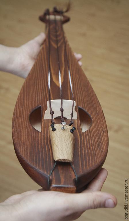 Струнные инструменты ручной работы. Ярмарка Мастеров - ручная работа. Купить Гудок Басовый. Handmade. Коричневый, басовый гудок