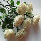 Цветы и флористика ручной работы. Ярмарка Мастеров - ручная работа Розы из полимерной глины полноразмерные. Цвет любой.. Handmade.