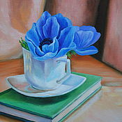 Картины и панно handmade. Livemaster - original item Oil painting Flowers in Cup. Handmade.
