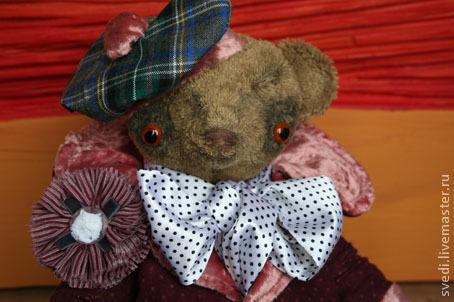 """Мишки Тедди ручной работы. Ярмарка Мастеров - ручная работа. Купить тедди мишка """"Арчимбальд"""". Handmade. Бежевый, плюш винтажный"""