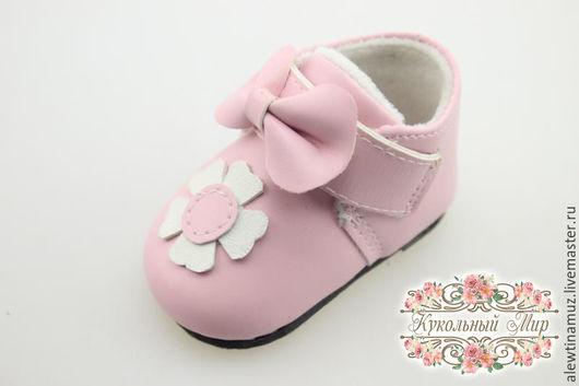 Куклы и игрушки ручной работы. Ярмарка Мастеров - ручная работа. Купить Туфельки для куклы. Handmade. Бледно-розовый, обувь для кукол