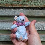 Мягкие игрушки ручной работы. Ярмарка Мастеров - ручная работа Небесно - голубой мишка. Handmade.