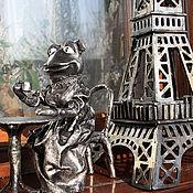 """Куклы и игрушки ручной работы. Ярмарка Мастеров - ручная работа Кукла-сувенир """"Лягушка - путешественница """"O! Paris, Paris..."""". Handmade."""