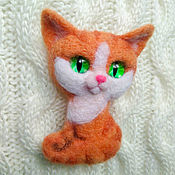 Украшения handmade. Livemaster - original item Copy of the product Brooch-needle: brooch felted. Fox.. Handmade.