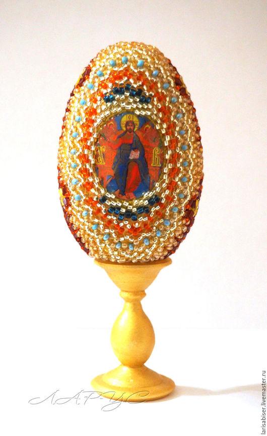 Яйца ручной работы. Ярмарка Мастеров - ручная работа. Купить Яйцо из бисера Пасхальное. Handmade. Яйцо пасхальное, пасхальные яйца