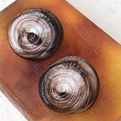 handmade. Livemaster - original item Frozen Shells... Clips. France of the Art Deco period. Handmade.