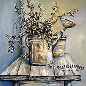 Картины и панно handmade. Livemaster - original item Oil painting on canvas of an OLD WATERING can. Handmade.