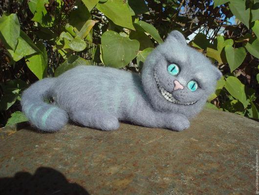 Сказочные персонажи ручной работы. Ярмарка Мастеров - ручная работа. Купить Чеширский кот. Handmade. Серый, чеширский кот