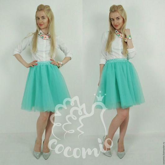 Мятная юбка-пачка мини купить в Москве