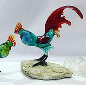 Подарки к праздникам handmade. Livemaster - original item Interior figurine made of colored glass Rooster E.. Handmade.