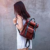 handmade. Livemaster - original item Women`s backpack from NAT. handmade leather. Handmade.