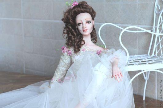Коллекционные куклы ручной работы. Ярмарка Мастеров - ручная работа. Купить Мелисента. Handmade. Розовый, текстиль