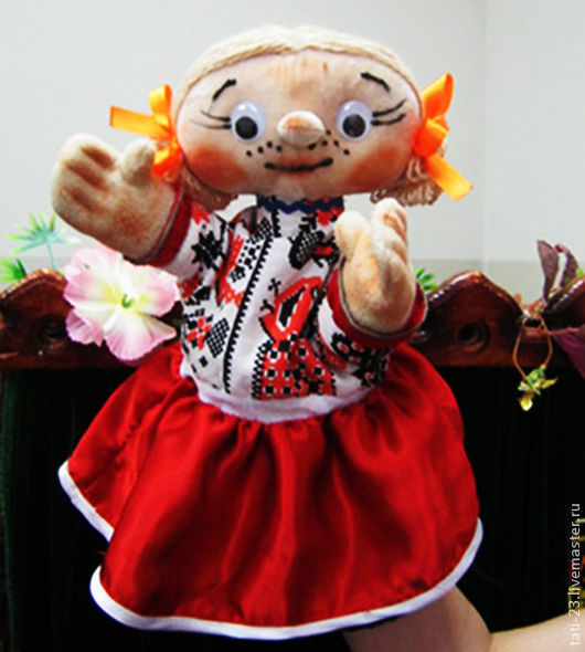 Кукольный театр ручной работы. Ярмарка Мастеров - ручная работа. Купить Маруся. Перчаточная театральная кукла.. Handmade. Театр