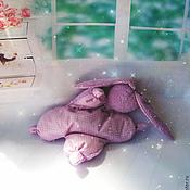 """Куклы и игрушки ручной работы. Ярмарка Мастеров - ручная работа Игрушка сплюшка для сна """"Сиреневое чудо""""( зайка, игрушка, сон). Handmade."""